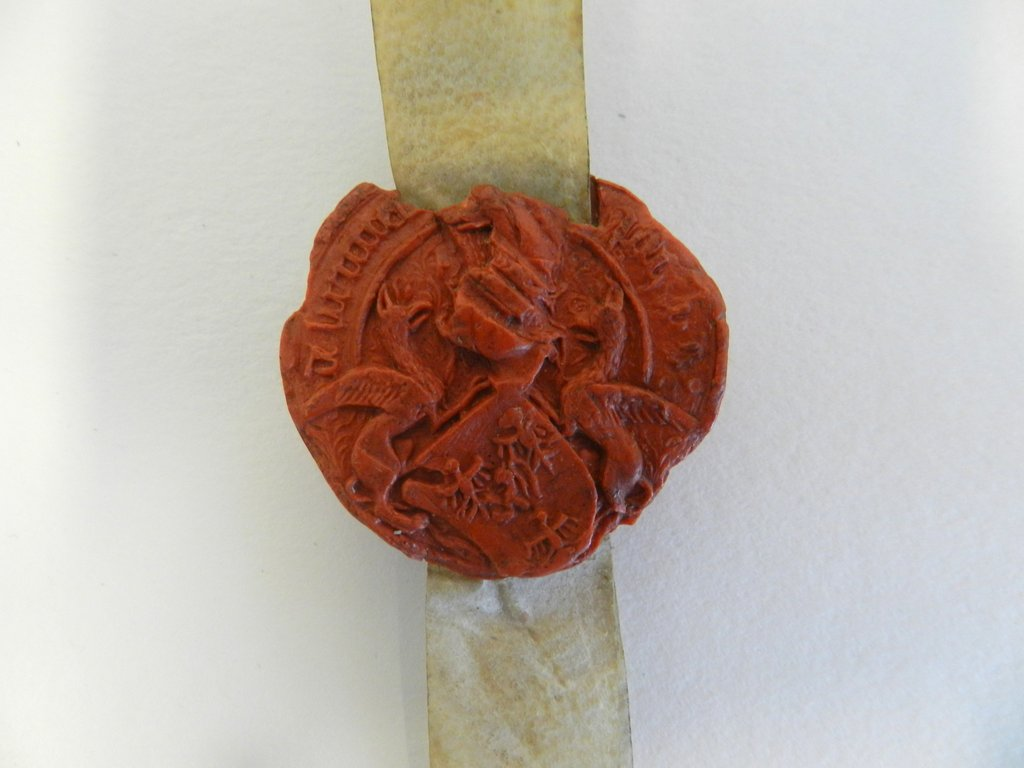 Détail d'un sceau, après restauration