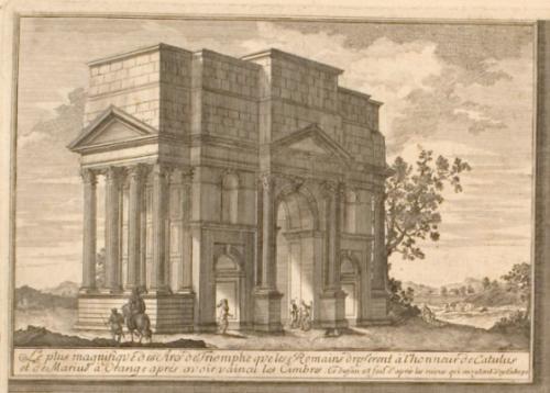 Johann Bernhard Fischer von Erlach, « Entwurff einer historischen Architectur », tome second, détail de la planche V (1721/1725)