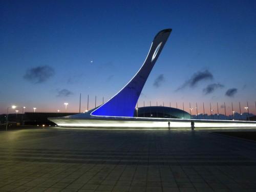 Sotchi porte flamme olympique janv. 2015