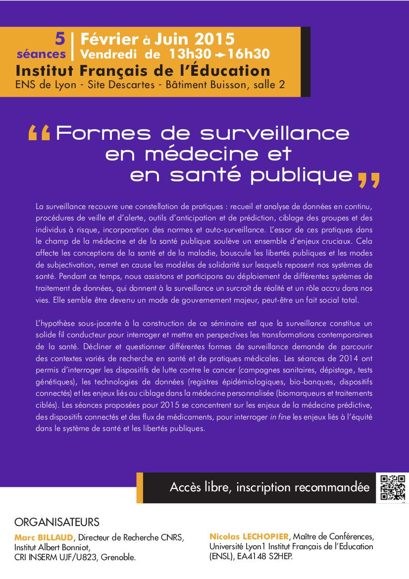 Formes de surveillance medecine et sante publique argumentaire 2015