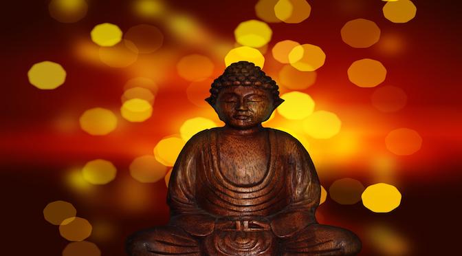 Statuette en position de méditation