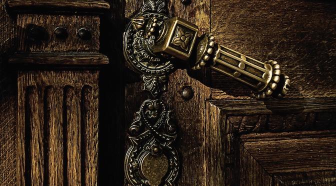 Poignée d'une vieille porte