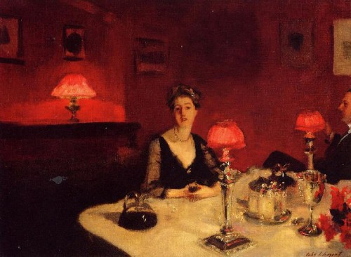 Dinner Table at Night John Singer Sargent