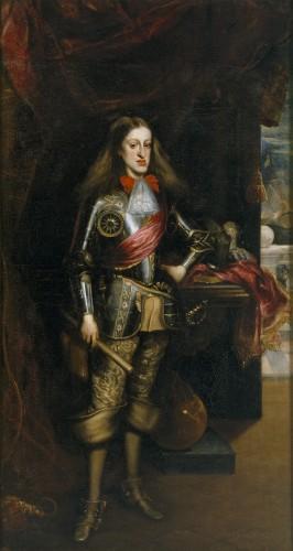 """Carlos II, por Carreño de Miranda. Durante su reinado se produjo una verdadera """"inflación"""" de títulos nobiliarios."""