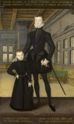 Eworth, Hans: Lord Darnley y Lord Charles Stuart