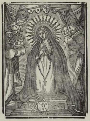 Grabado del s. XVIII: la Virgen de la Soledad, de Oliva (Valencia)