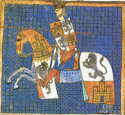 Alfonso X el Sabio, según el tumbo de la catedral de Santiago de Compostela