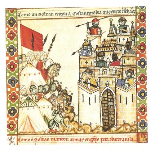 Asedio de una ciudad, según las Cantigas de Santa María