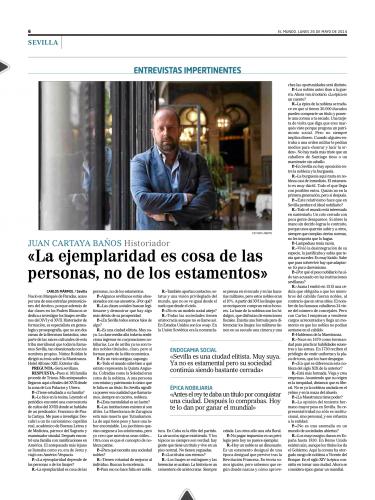 Entrevista en EL MUNDO, 26/05/2012