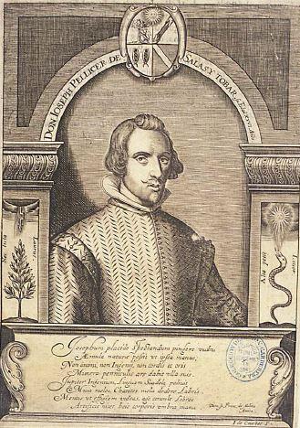 Pellicer de Tovar, con 26 años (calcografía de la BNE)