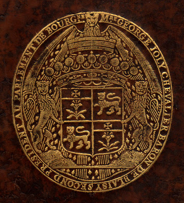 Armas de George Joly, barón de Blaisy, presidente del Parlamento de Borgoña (1610-1679)