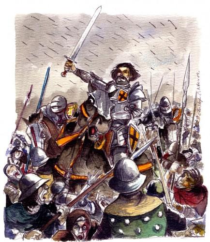 Gilles de Rais en la Guerra de los Cien Años, un héroe de los pulp-comics