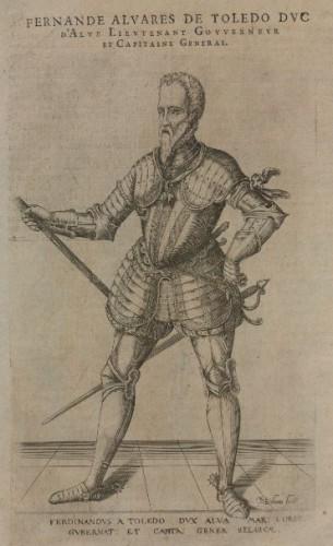 Retrato de Fernando Alvarez de Toledo, III duque de Alba,  por Sichem, Christoffel van (1546-1624), 1601.