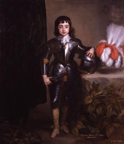 El Príncipe de Gales, futuro Carlos II (cir 1640), círculo de Van Dyck