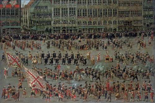 Denis vanAlsloot, el Ommeganck de Bruselas (31 de Mayo de 1615). Detalle