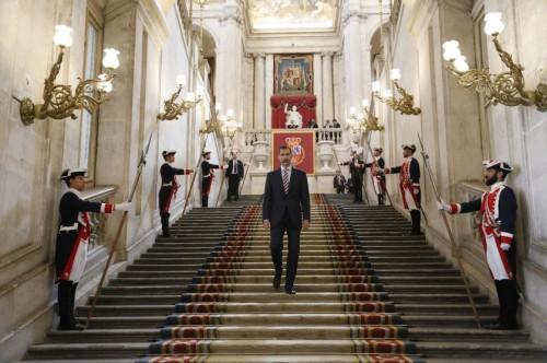 Su Majestad el Rey, en la recepción al Presidente de la República Italiana