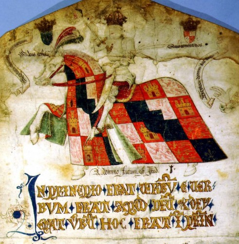 Eduardo IV, en el roll de la biblioteca de Filadelfia