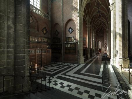 Ubicación del repertorio armero en la catedral de Gante (Lukas Art in Flanders)