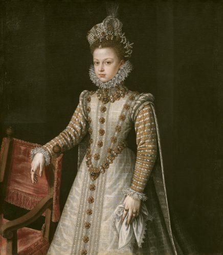 La infanta Isabel Clara Eugenia, por Sánchez Coello (Prado)