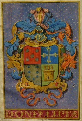 Ejecutoria de hidalguía de Martín de Aces Capitillo (1636). detalle. Biblioteca Nacional, Madrid