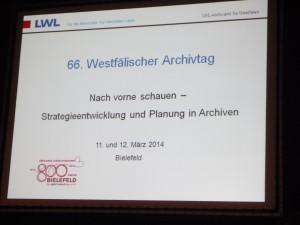 2014 fand der Westfälische Archivtag in Bielefeld statt