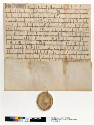 Fürstliches Archiv Rheda, Bestand: Stift Clarholz, Urkunden Rha.C.Uk 5