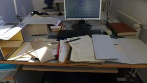 Mein Arbeitsplatz - keineswegs im Keller
