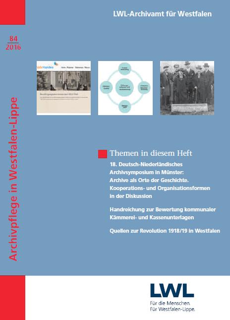Archivpflege für Westfalen-Lippe 84-2016