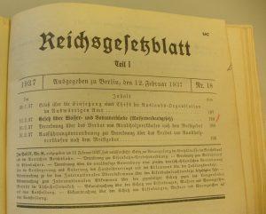 Gesetz über Wasser- und Bodenverbände 1937
