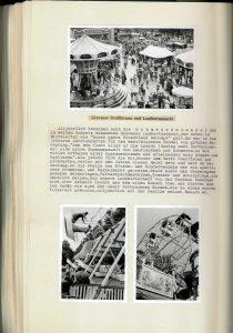 Stadtarchiv Greven, Chronik Schmedehausen Band 1 Blatt 137v: Kirmes in Greven, August 1956.