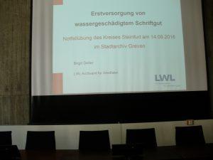 Theoretische Einführung im Rathaus (Stadtarchiv Greven, F3D-621, Foto: Angelika Haves)