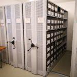 Neue Regalanlage im Archiv Brincke