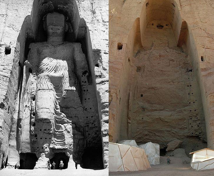 Destruction des Bouddhas de Bâmiyân (Afghanistan, 2001)