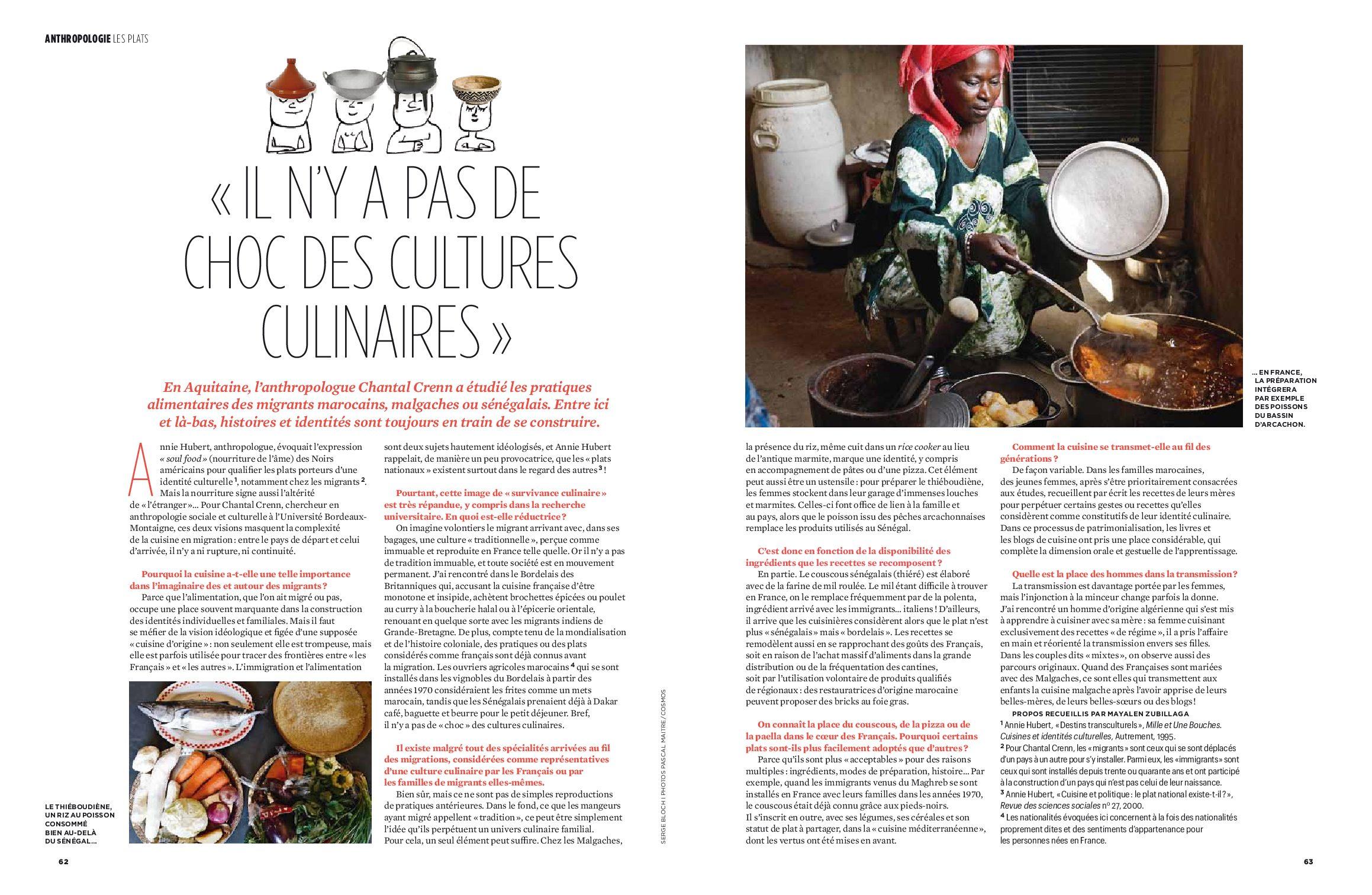 """""""Il n'y a pas de choc des cultures culinaires"""" (Chantal Crenn)"""