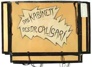 """Abb. 1: Mappe Außenseite: """"Das Kabinett des Dr. Caligari"""" IMG_0811 Inv.Nr. 198033_F251_054 Deutsche Kinemathek Berlin"""