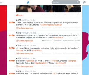 Abb. 3: Tweet @ARTE.de