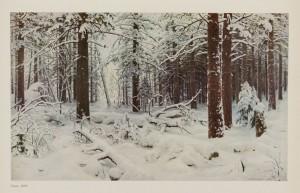 Иван Иванович Шишкин / Ivan Ivanovitch Shishkin (1832-1898) L'hiver (1890) Reproduction extraite du livre consacré au peintre Иван Иванович Шишкин
