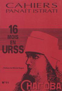 Reproduction de la première de couverture du numéro 11 des Cahiers Panaït Istrati, publié en 1994