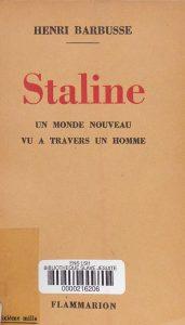 Reproduction de la première de couverture du livre d'Henri Barbusse (1935)