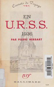 Reproduction de la première de couverture du livre de Pierre Herbart (1937)
