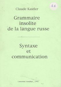 Première de couverture de la grammaire de russe, édition de 1993