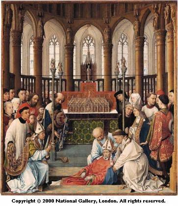 Translation de s. Hubert, évêque de Liège, mort en 727, 1ère transl. en 743