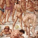 Luca Signorelli, La résurection de la chair (détail), cathédrale  d'Orvieto, v.1500