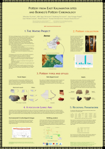 Pottery from East Kalimantan sites and Borneo's Pottery Chronology