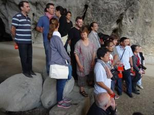 « Pusaka » network members visiting Niaux Cave