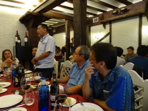 Prof. Eusebio Dizon giving a speach before the session diner