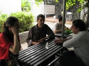 After the meeting, a bakso with Pak Tular / Aprés la réunion un bakso avec Pak Tular