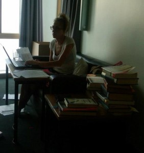 A much more accurate picture of me and my dissertation cave.