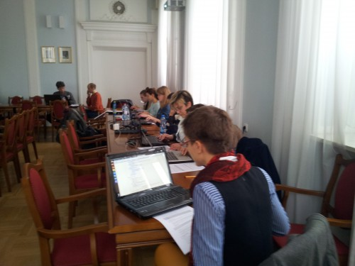 #teiwarsaw attendees at work