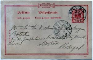 Figura 1 – Inteiro Postal. Coleção particular Celestino Domingues